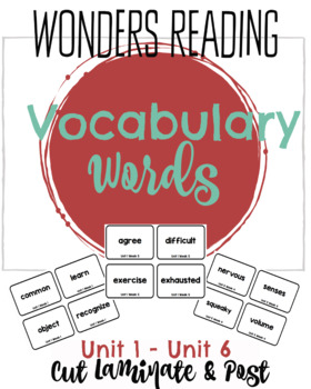 First Grade Reading Wonders Vocabulary Cards