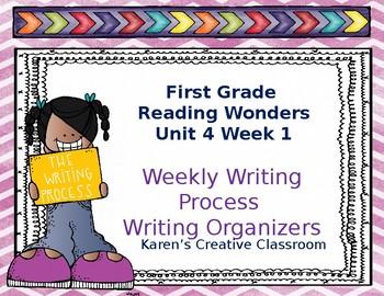 First Grade Reading Wonders Writing Process Unit 4 Week 1