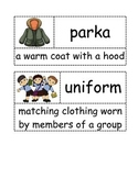 First Grade- Ready Gen- It's Back to School We Go & Going to School- Vocabulary