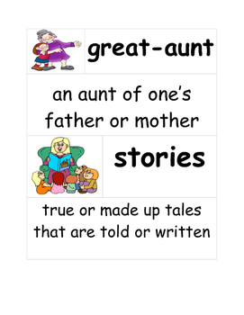 First Grade- Ready Gen- Miss. Rumphius and The Family Tree- Vocabulary
