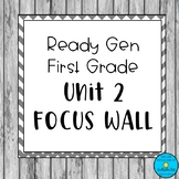 First Grade Ready Gen Unit 2 Focus Wall- Chevron Theme
