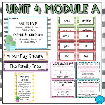 First Grade ReadyGen Unit 4 Focus Wall- Cactus/Watercolor theme