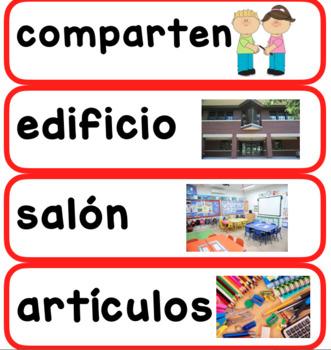 First Grade ReadyGen Spanish Unit 2 Module P Vocabulary Cards