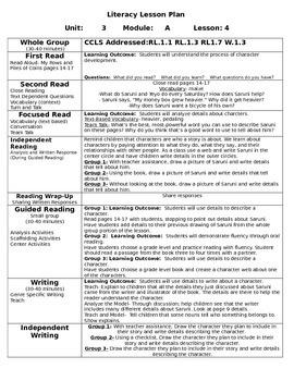 First Grade ReadyGen Unit 3 Module A Lessons 4-6