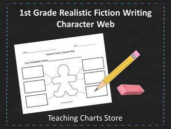 First Grade Realistic Fiction Writing Character Web