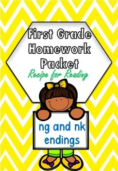 First Grade Recipe For Reading Book 21 Homework Packet