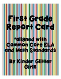 First Grade Report Card