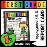 First Grade Report Card and Assessment kit - assessing students binder and data