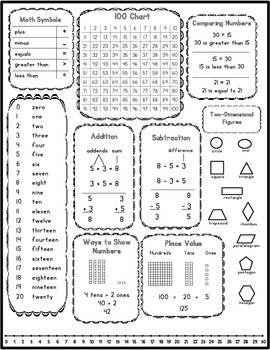 Desk Reference Guide - First Grade