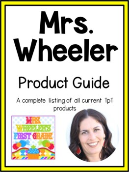 First Grade Resources:  Mrs. Wheeler's Product Guide