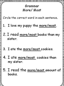 First Grade Review: Getting Ready for 2nd Grade