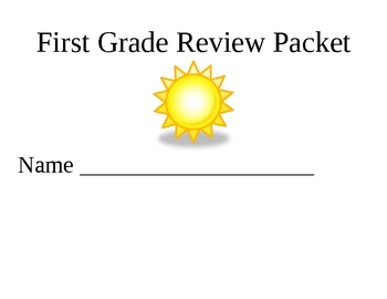 First Grade Review Packet