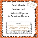 First Grade Review Unit on Historical Figures in American History