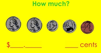 First Grade Review of Clocks and Coins (Time & Money)