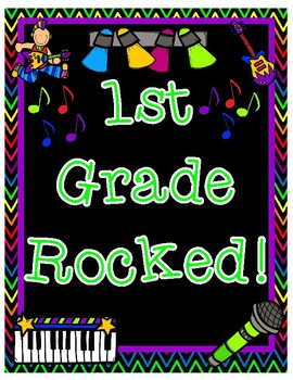 First Grade Rocked End of Year Pair & Share Printable Poster