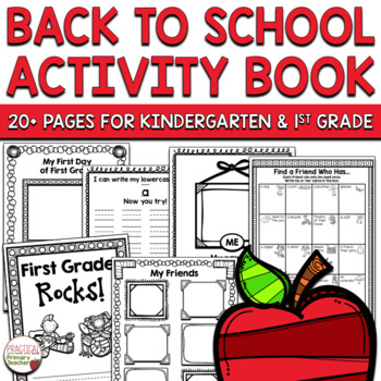 Back to School Activity Book First Grade