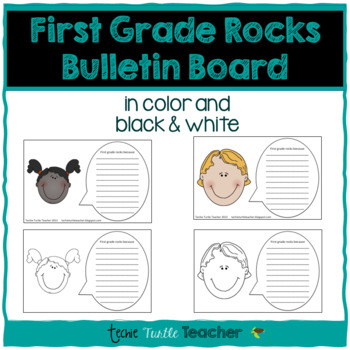 First Grade Rocks Because Writing - Perfect for Bulletin Boards!