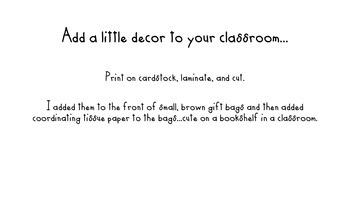 First Grade Rocks! Chalkboard Letters