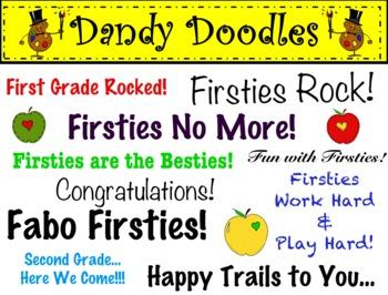 First Grade Rocks Clip Art by Dandy Doodles