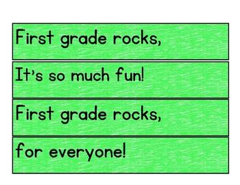 First Grade Rocks Poetry Center Pack