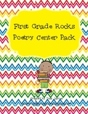 First Grade Rocks Poetry Center Pack