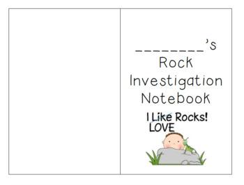 First Grade Rocks! Rock Investigation Notebook