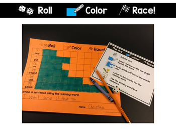 First Grade Roll and Read Editable Sight Word Centers