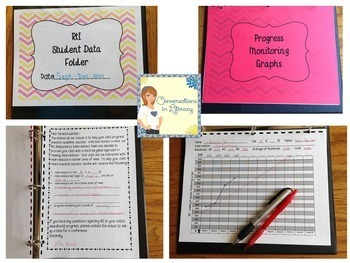 First Grade RtI Data Binder:  Graphs & Pages for Teacher and Student Binders