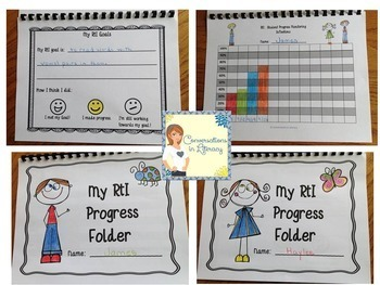 RTI Data Tracking Forms Binder: for Teachers and Students First Grade