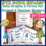 Student Data Tracking Sheets RTI Binder for Teachers and Students First Grade