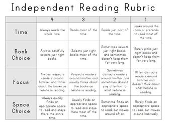 First Grade Rubrics