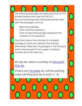 First Grade SAT-10 Practice Passages
