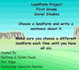 First Grade SMART Notebook Landform Project