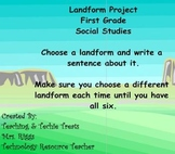 First Grade SMART Notebook Landform Project