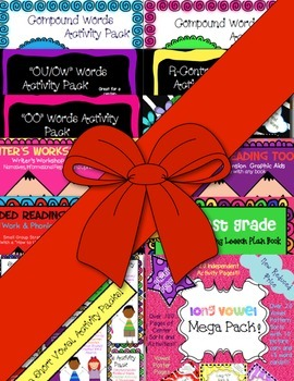 First Grade SUPER Bundle! ~ Lesson Plans, Phonics Work, Graphic Aids and More!
