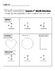 First Grade Saxon Math Weekly Review Worksheets
