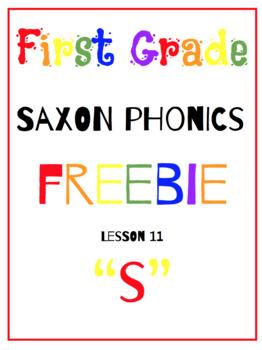 "First Grade Saxon Phonics Lesson 11- Letter ""s"" {FREE SAMPLE LESSON}"