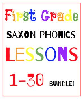 First Grade Saxon Phonics Lessons {1-30} BUNDLE!!