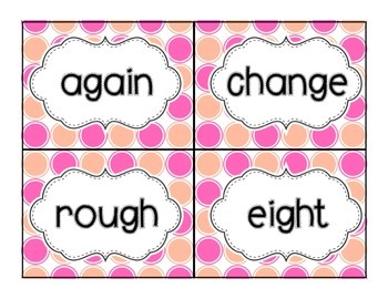 First Grade Saxon Phonics Sight Word Cards
