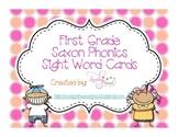 First Grade Saxon Phonics Sight Word Cards