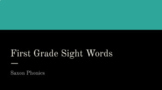 First Grade Saxon Sight Words Powerpoint for the Entire Year