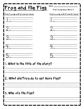 First Grade Saxon Word Word Resource pack (1-12)