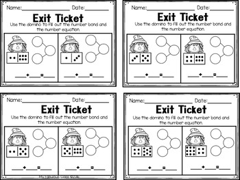First Grade Scarecrow Math Centers, Printables, and Exit Tickets