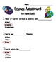 First Grade Science Assessment The Earth (Common Core)