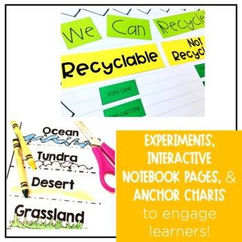 First Grade Science Bundle Integrating Literacy
