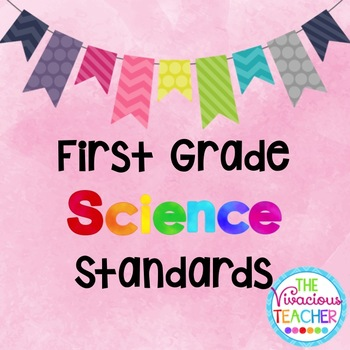 Common Core Georgia Performance Standards Posters First Grade Science