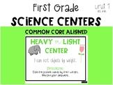 First Grade Science Center: Heavy or Light