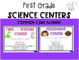 First Grade Science Centers: Texture and Movement