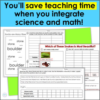 First Grade Science & Second Grade Science Data Collection & Writing