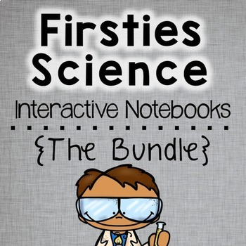 Back to School First Grade Science Interactive Notebooks Bundle